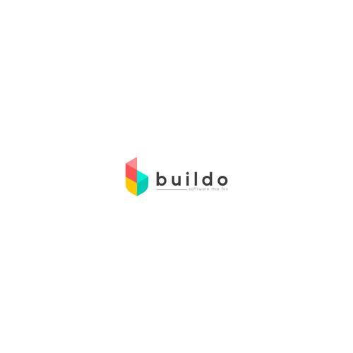 Logo concept for buildo software developer company