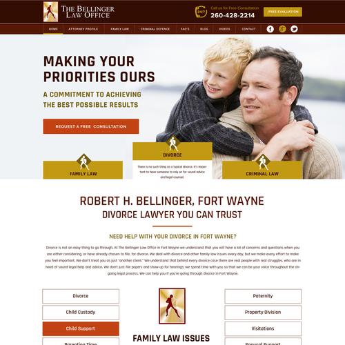 The Bellinger law office web site