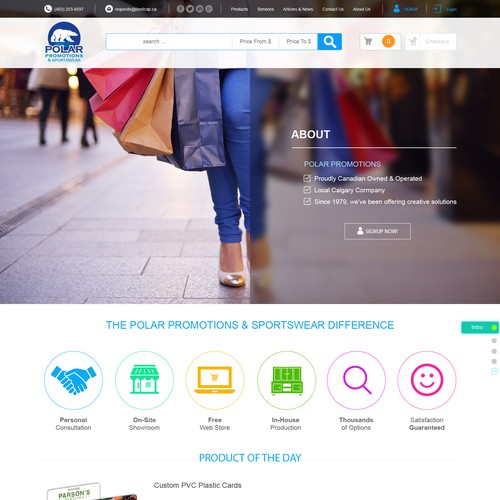 New Homepage Website Design for Branded Product Company