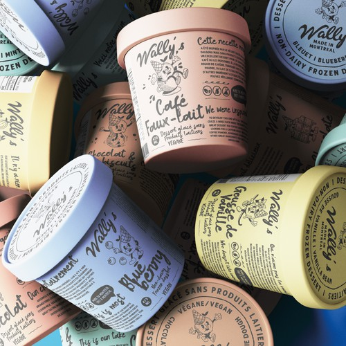 Unique Vegan Ice Cream Brand Designs