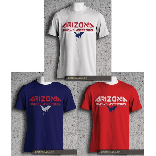 Create an asteroid T-shirt for the University of Arizona