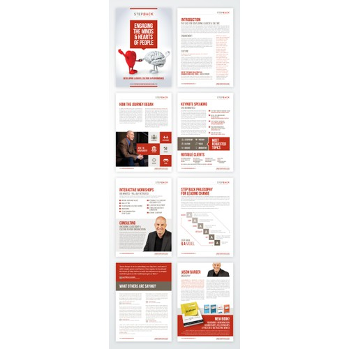 Creative brochure for an author, speaker and leadership consultant