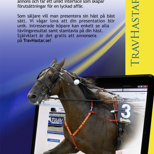 One Page Advertisement to Promote Website Selling Horses