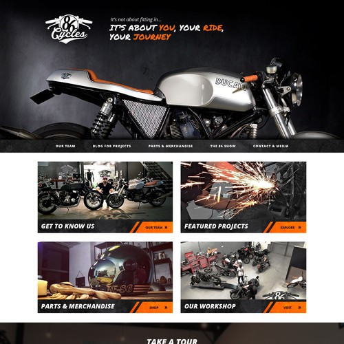 Web Design for 86 Cycles