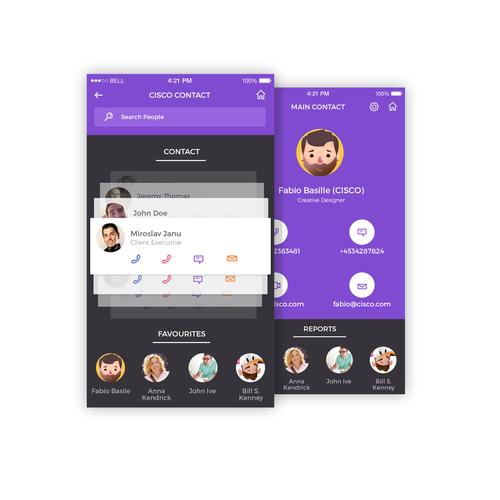 Contact App concept