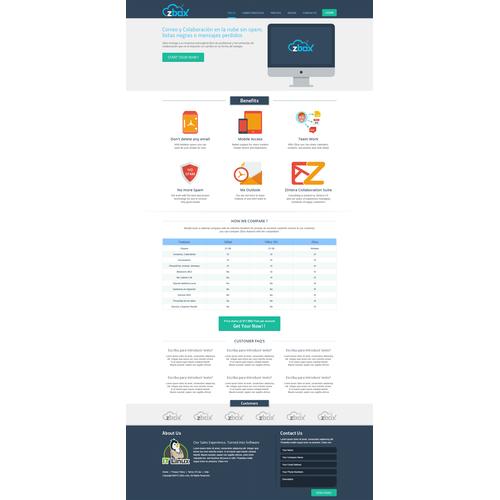 Website for ZBox: Email Hosting Service