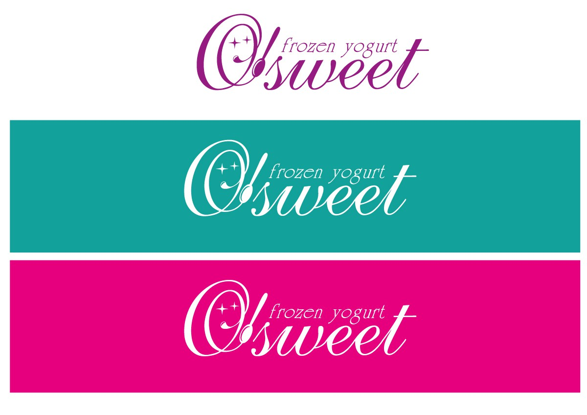 logo for O'SWEET    FROZEN  YOGURT