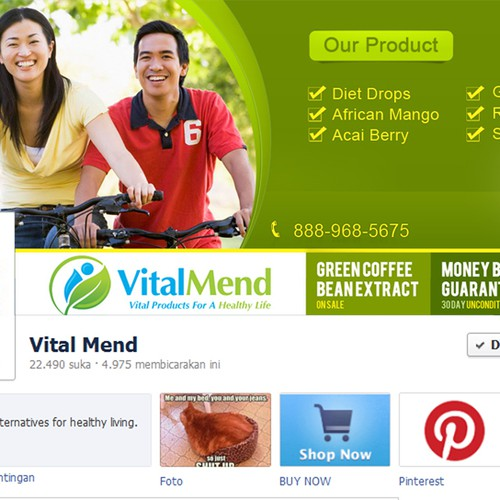 Facebook cover for VitalMend