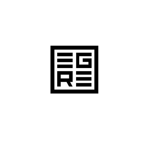 Lettering logo concept for real estate