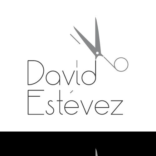 Logotipo de peluquería David Estévez