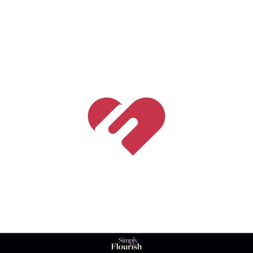 Minimal heart acronym logo