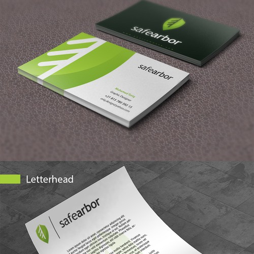 Logo and stationery concept for safearbor