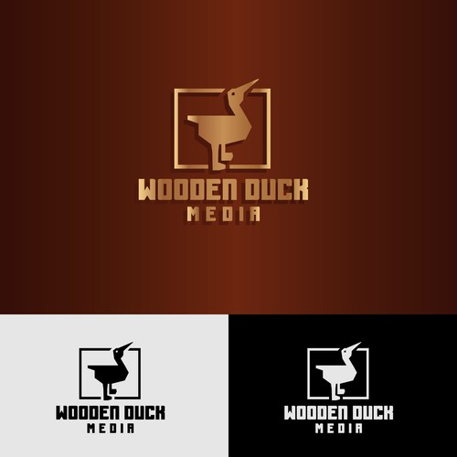 logo proposal for wooden duck media