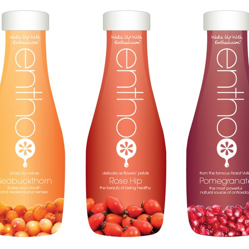 Packaging for a new line of fruit juices