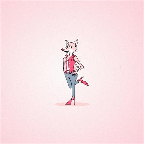 Create a fun, sexy, female, humanoid-fox character/icon for Foxy