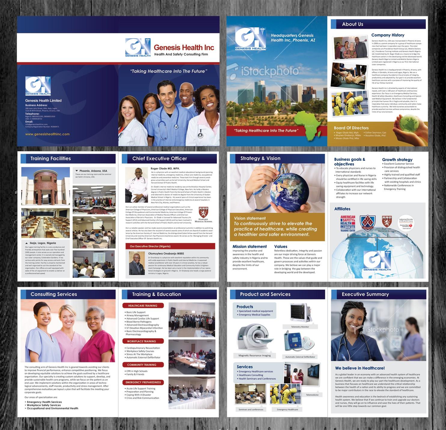 Genesis Health  needs a new brochure design