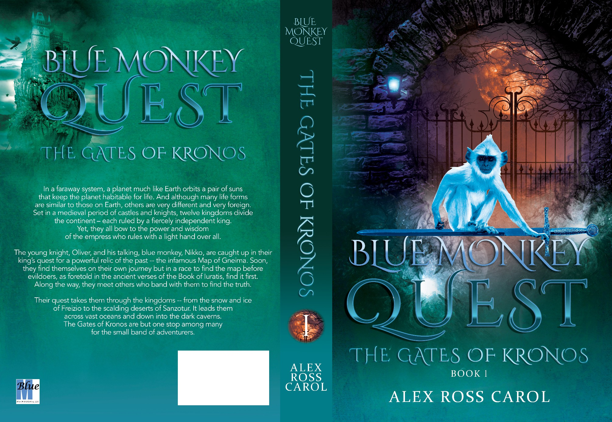 Need a unique/clean design: Young knight & talking blue monkey on fantasy quest. 1st of 3.