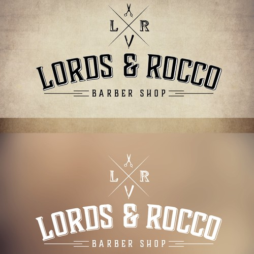 A logo for a classic luxury gentleman's barber shop