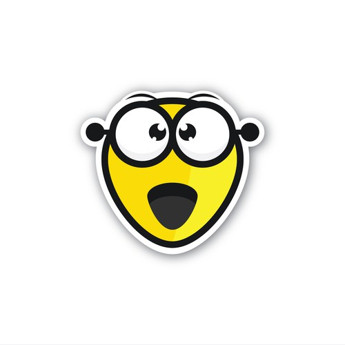 Emoji type logo for Twitch.