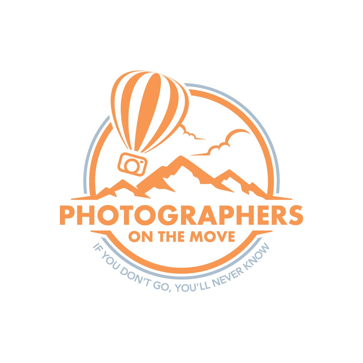 Logo for travel photography company