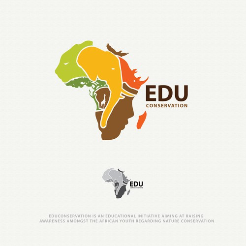 illustrative logo concept for Edu Conservation