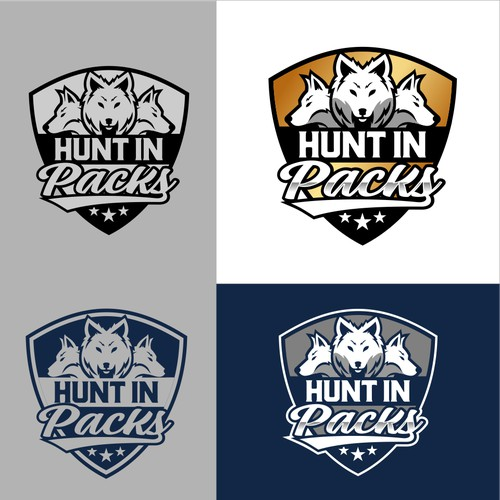 Hunt In Packs logo design