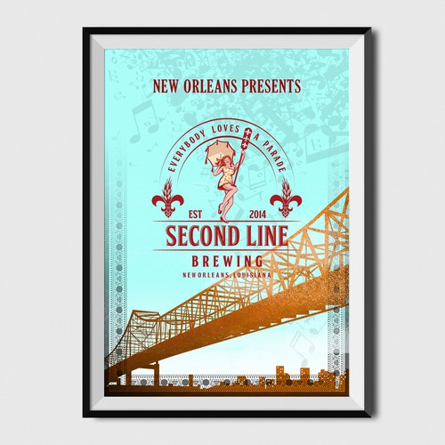 Second Line Brewing Poster