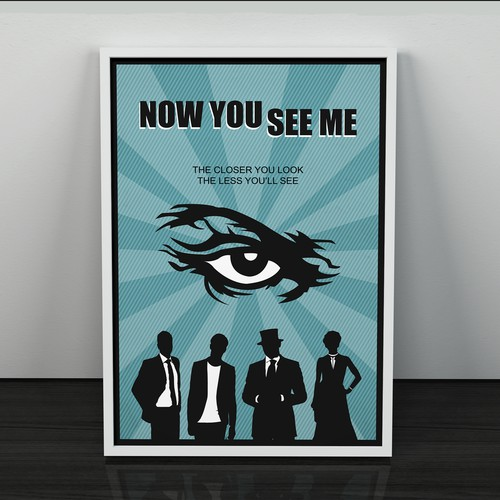 80's style poster concept for the film 'Now You See Me'