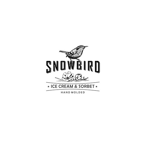 Vintage logo for Hand Molded Ice Cream & Sorbet