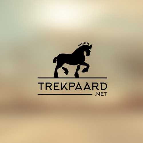 Logo for website about belgian draft horses