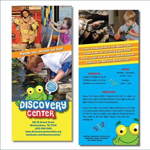 Rack card for Discovery Center