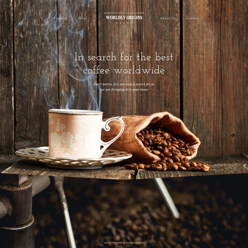 Premium Coffee E-Commerce Home Page