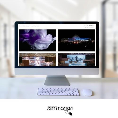 Portfolio Site for a Senior Producer