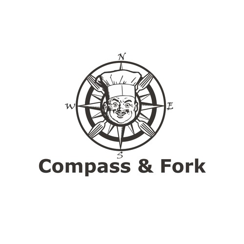 Create a Great Logo for a New Food and Travel Blog- Compass and Fork