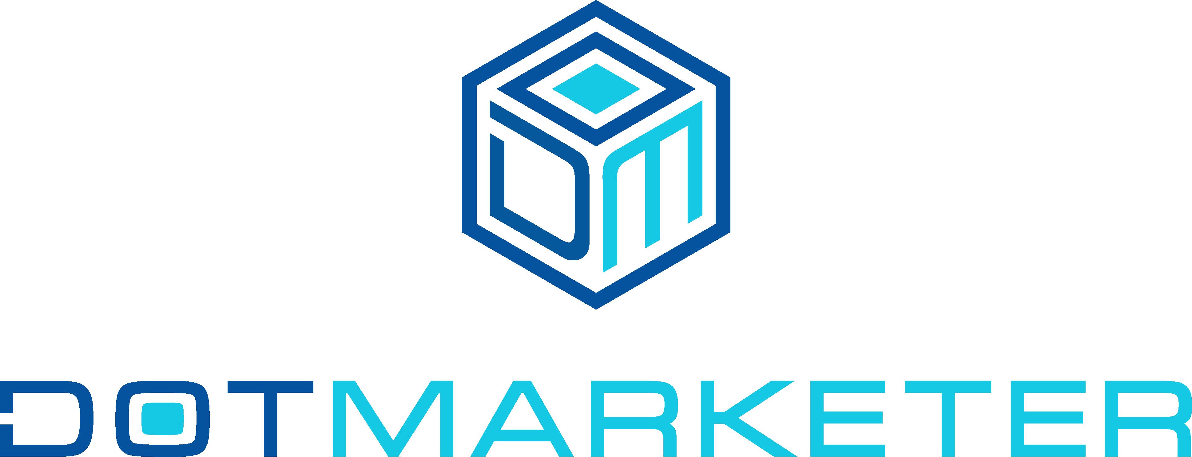 Design a sleek, modern new logo for Dotmarketer