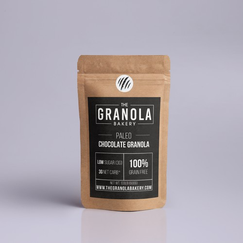 Packaging design for a granola bakery