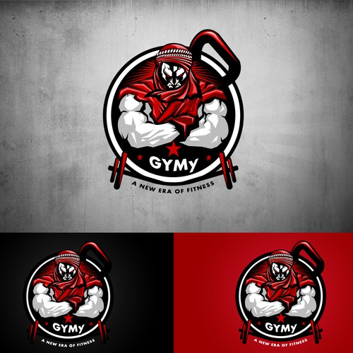 create a mind boggling logo for a gym