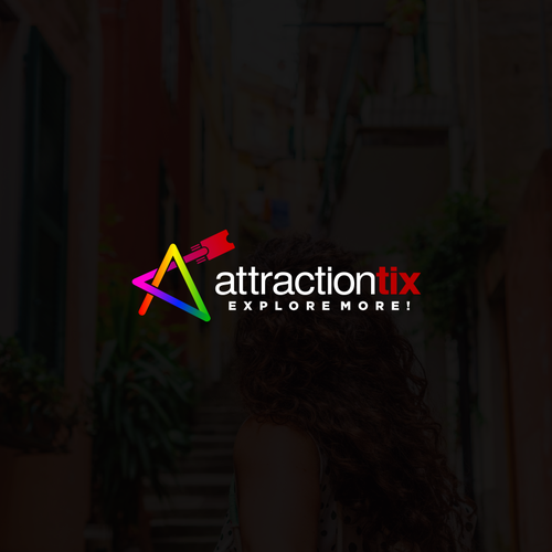 Colorfull logo concept for attractiontix