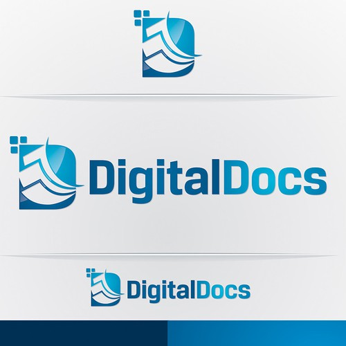 logo and business card for Digital Docs
