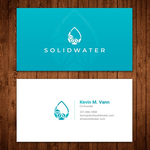 Design cool business card template for beverage brand