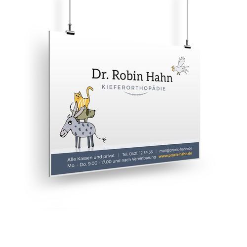 Logokonzept für einen Kinder- und Jugendzahnarzt, der auf feste Zahnspangen spezialisiert ist