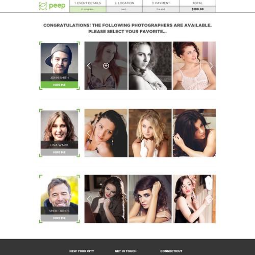 Help design the next photography on demand website!