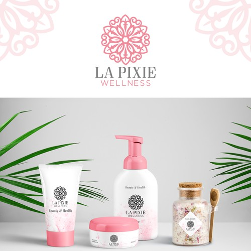 feminine logo for health, and skin care products