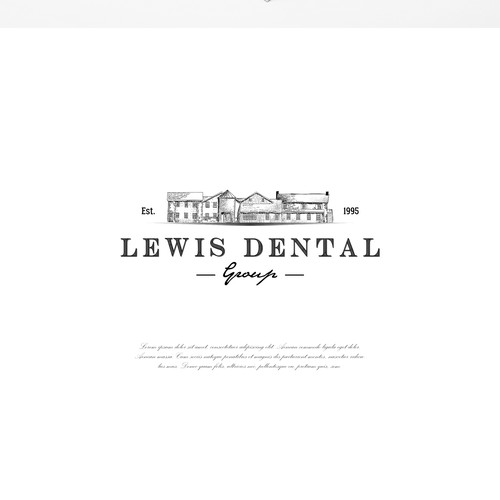 rustic design for a dental group