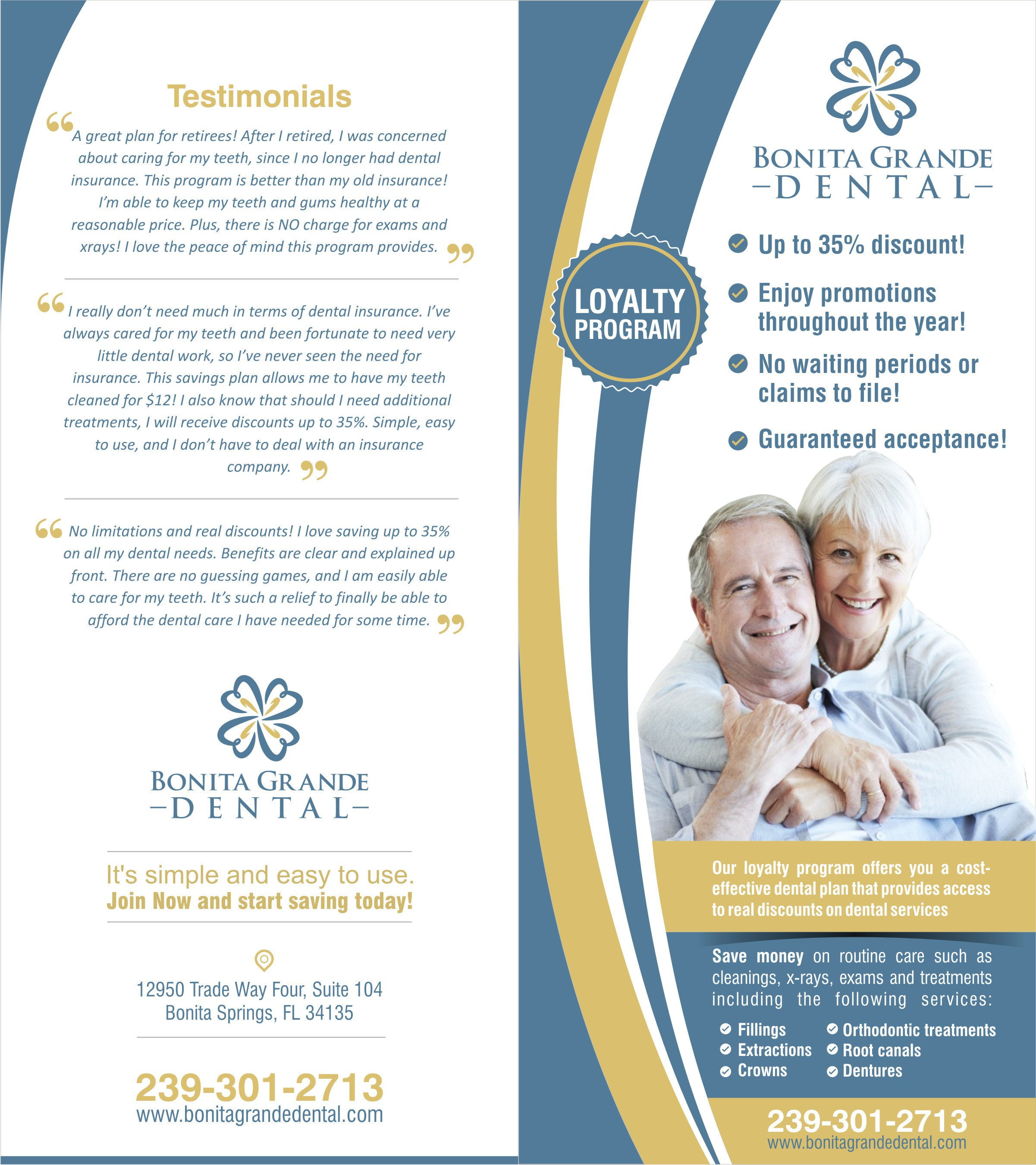 Create an appealing brochure for a dental office!