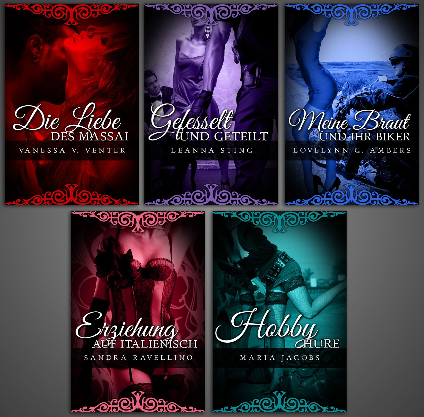 Author needs covers for an erotic ebook series