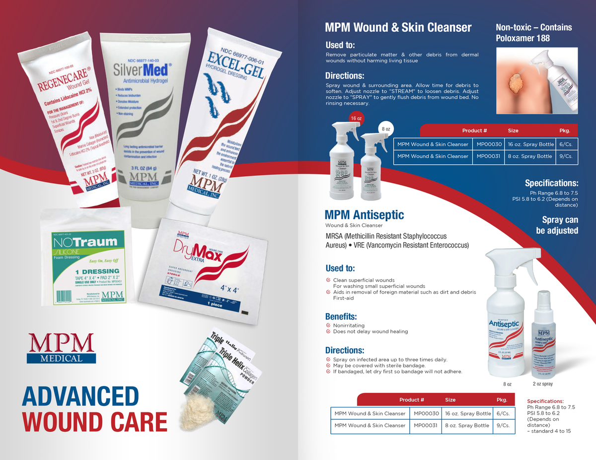 To finish the wound care catalog in its entirety