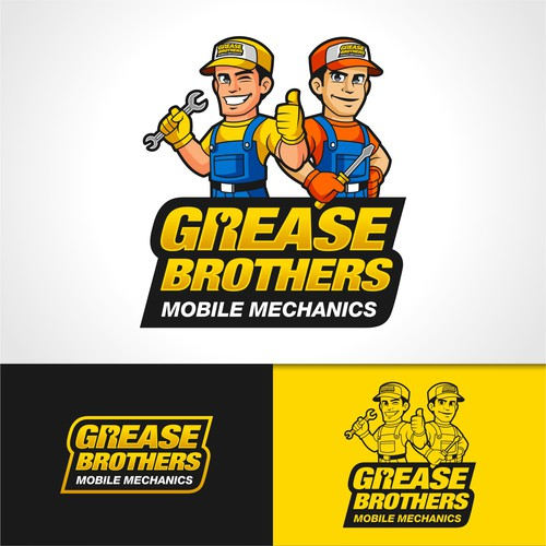 Logo Concept for Grease Brothers