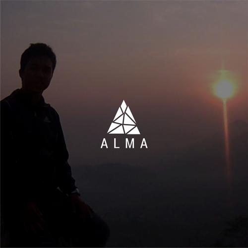 """A"" monochromatic logo"