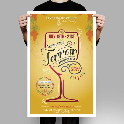 Poster for beer tasting weekend